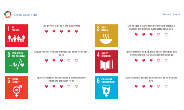 Global Goals Fund Screenshot
